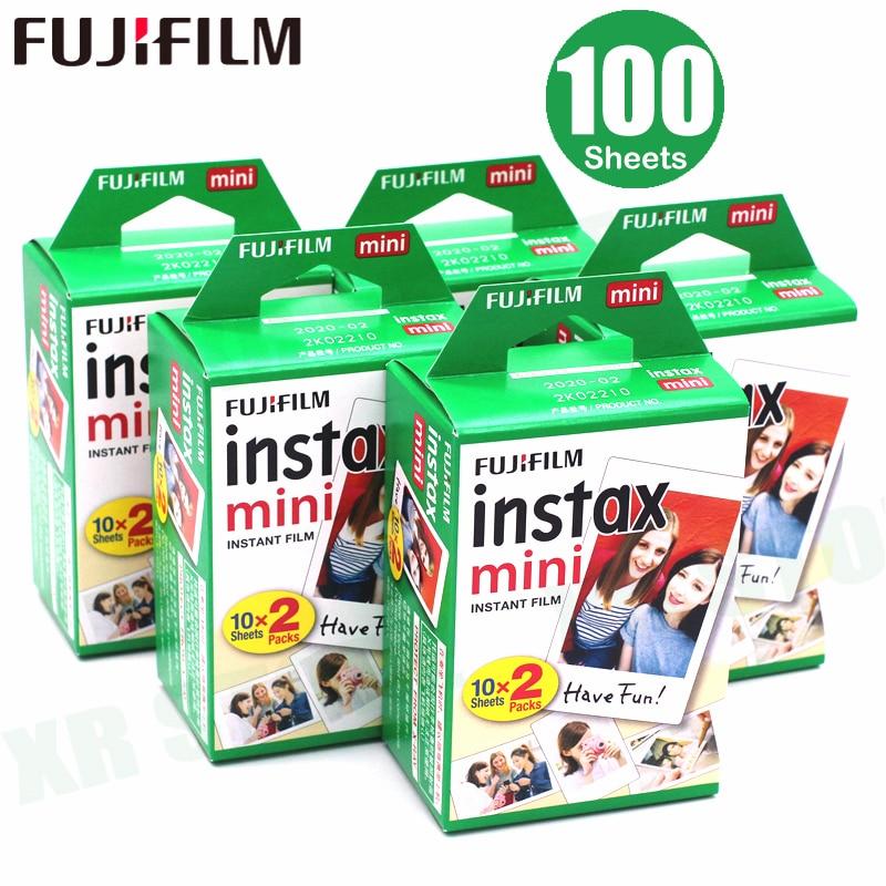100 feuilles Fujifilm Instax Mini 8 film pour Fuji 7 s 9 70 25 50 s 90 caméra Photo instantanée film blanc SP-1 SP-2