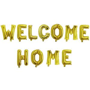 Image 5 - 1set Rose Gold Willkommen Zu Hause Brief Folie Luftballons Willkommen Zurück zu Hause Event Party Supliers Aufblasbare Luft Kugeln Dekoration