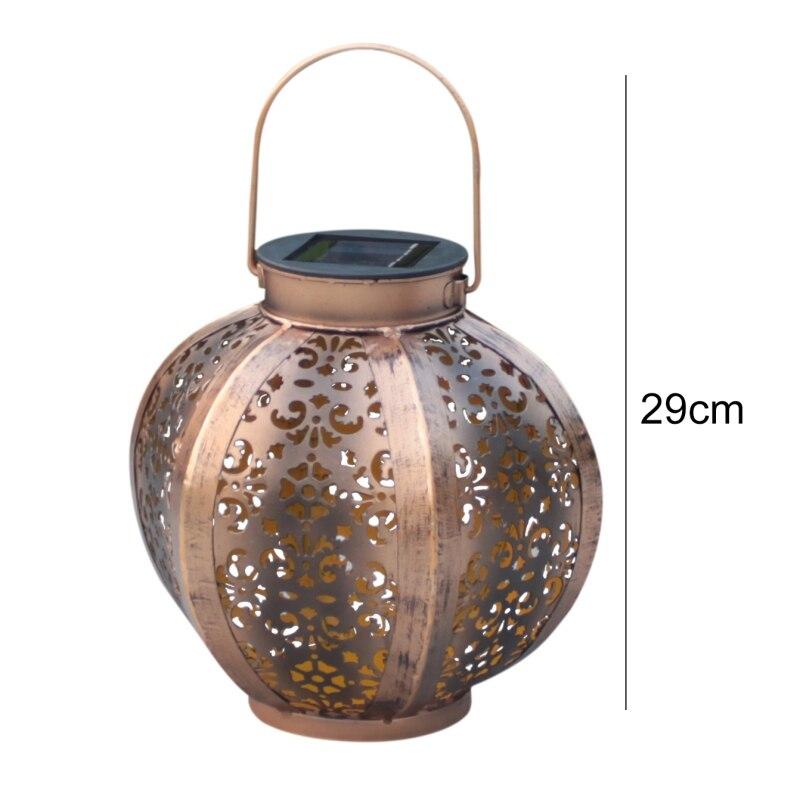 Good Chance for  Outdoor Waterproof Solar Hanging Lantern Solar Flame Lights Retro Garden Pathway Lights Lawn Lamp F