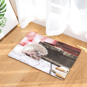 Image 3 - CAMMITEVER Lovely Small Animal Hedgehog Carpet Alfombra Chair mat Seat Pad  Area Rugs Washable Bedroom Kids Room Decoration
