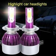 2 шт. 4000LM Мини Автомобильный светодиодный фар фара h7 H4 HB2 9003 Hi/ближнего и дальнего света 9005 HB3 H10 9006 HB4 h8 h9 h11 Мини авто лампы