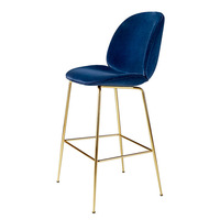 Simple Style Nordic Bar Chair with Backrest Creative Coffee Shop High Stool Household Multi function Firm Balcony Leisure Chair