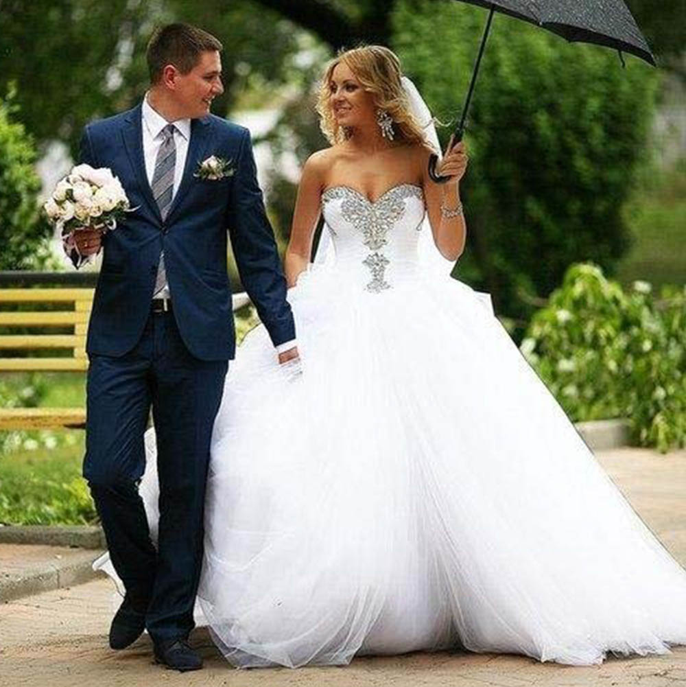 Aliexpress.com : Buy 2017 White Rhinestones Wedding Dress