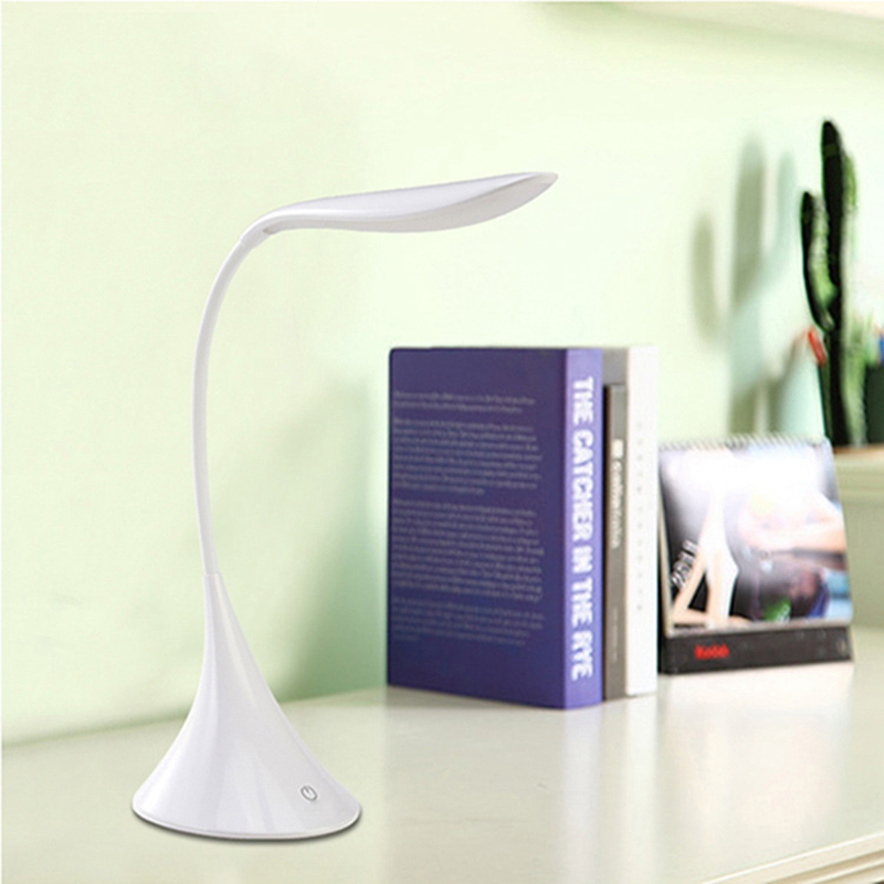 LumiParty LED Table Lamp Night Light Mini Swan Shape Eye Friendly Flexible Rechargeable LED Night Light US Plug USB Cahrging