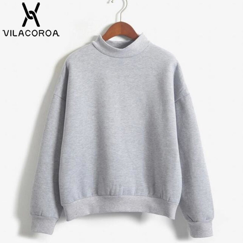 9 Colors Winter Solid Color Round Neck Long Sleeve Velvet Warm Sweatshirts Women Korean Style Loose Hoodies Female Casual Coat(China)