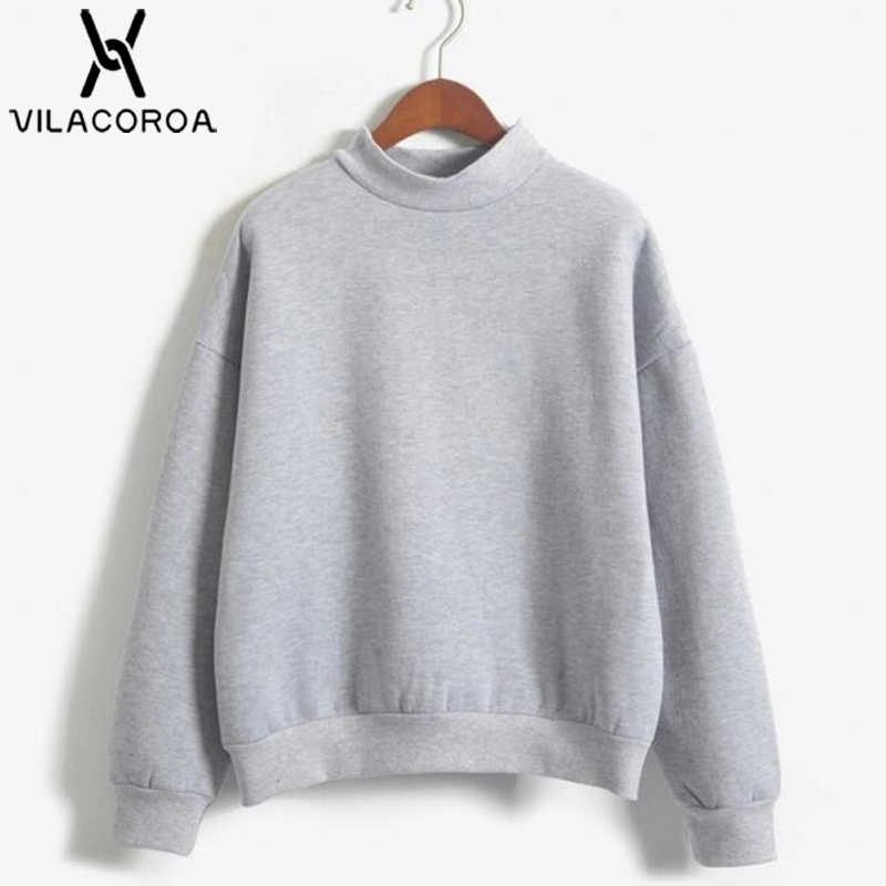 9 Colors Winter Solid Color Round Neck Long Sleeve Velvet Warm Sweatshirts Women Korean style Loose Hoodies Female Casual Coat