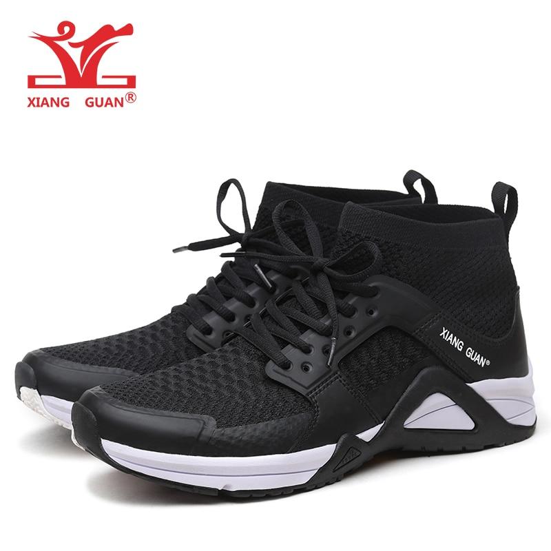 XIANG GUAN Running Shoes Men Breathable Lightweight Height Increasing Outdoor Sports Sock Sneakers For Men xiang guan breathable leather athletic sneakers man woman trainer sport shoe height increasing running shoes for women 3377