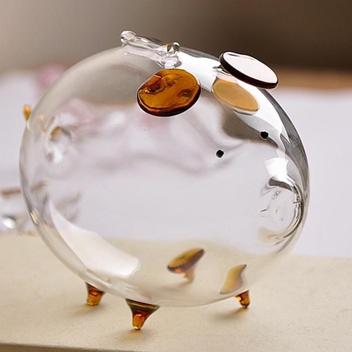 Grande tirelire douce cadeau bricolage créatif tirelire en verre transparent boîte à monnaie cadeaux créatifs cadeaux d'anniversaire