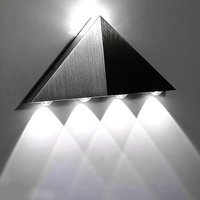 5W Aluminum Triangle LED Wall Light Lamp Modern Home Lighting Indoor Outdoor Decoration Warm Cold White