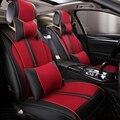 (Delantero y Trasero) Cuero del asiento de coche especial cubre Para Hyundai solaris ix35 ix25 i30 acento Elantra tucson Sonata auto accesorios