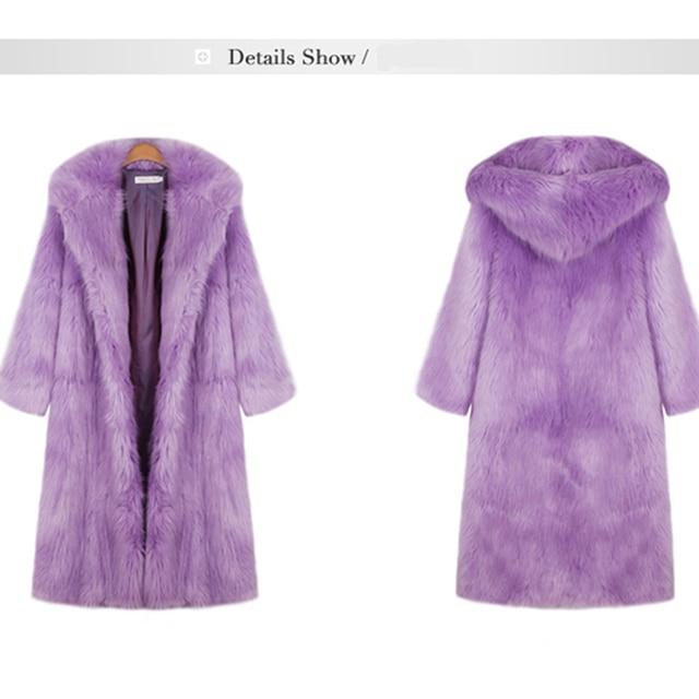 Женщины Искусственного Меха Пальто Куртки Леди Длинное Пальто Outerwears Мода Искусственного Меха Лиса Пальто С Длинным Рукавом Пальто