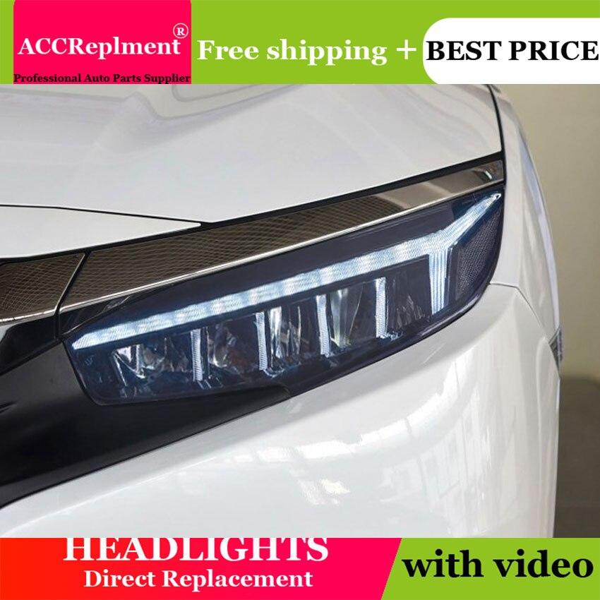 Car Styling LED Head Lamp for Honda civic headlights 2016 2017 New Civic LED H7 hid