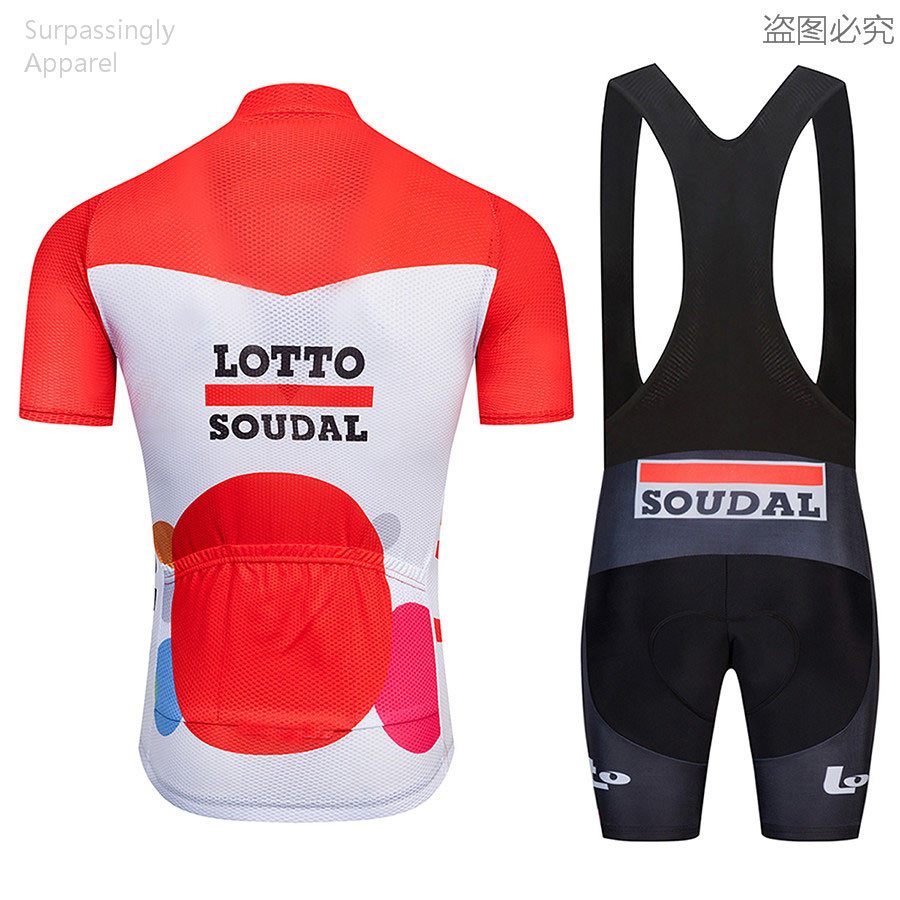2018 Pro Team Red Maillot Racing Ropa Ciclismo Lotto Cycling Jersey Short  Set Men s Bike Clothing MTB Bike Bicicleta Jersey Set-in Cycling Sets from  Sports ... 57843310c