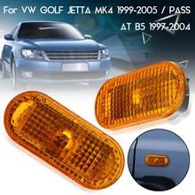 2 Pcs Âmbar Lado Marcador Luzes Laterais Do Carro Transformar a Luz do Sinal lâmpada Para VW Golf Jetta MK4 1999-2005 Para Passat B5/B5.5 1997-2004