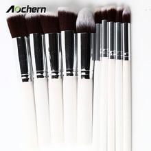 Aochern Free Shipping 10pcs/set Professional Makeup Brushes Set,Kit De Pinceis Make Up Brush  For Women Girl Lady #1002