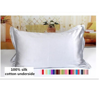 One Side 100 Mulberry Silk Pillowcases Envelope Pure Silk Pillow Case Pillowcase For Healthy Sleep Multicolor