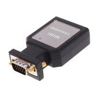 1080 P VGA לתיבת מתאם ממיר HDMI יציאת אודיו VGA כבל מאריך כבל חשמל מיני USB