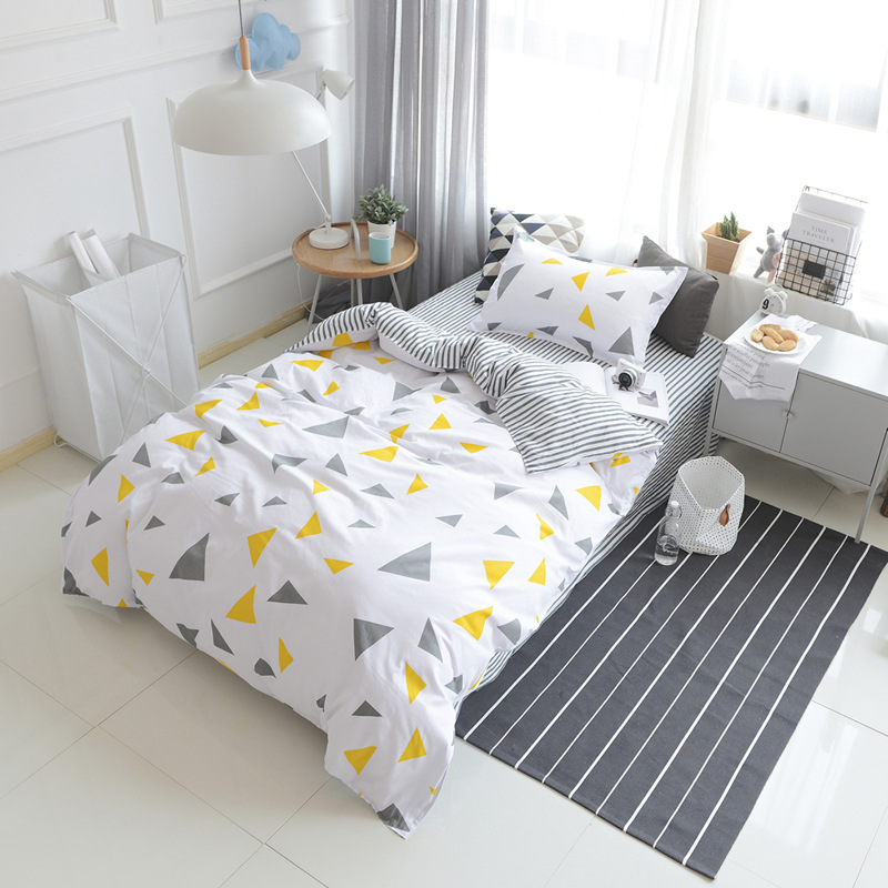 Bedding Sets for Baby Children Kids Toddler Cartoon Quilt Duvet Cover Set 3PCS Set Bed Set Bedclothes Geometric Style Sheet