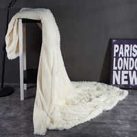 ヨーロッパの高級ロングヘアフェイクファースローブランケット冬ふわふわ暖かい両面毛布無地糸染色ベルベットミンク毛布