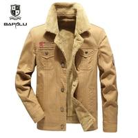 Winter jacket Men Jacket Solid color Standing collar Casual Washed Jacket Men's Lamb cashmere Keep warm Jacket Coat M 4XL 5XL