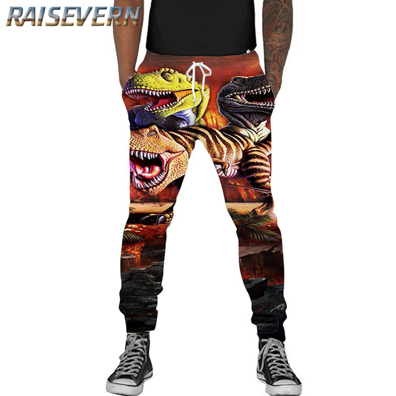 RAISEVERN 3D Dinosaur Sloth Joggers Unisex Funny Animal Sweat Pants Fashion Clothing Sweatpants Autumn Fall Winter Trousers