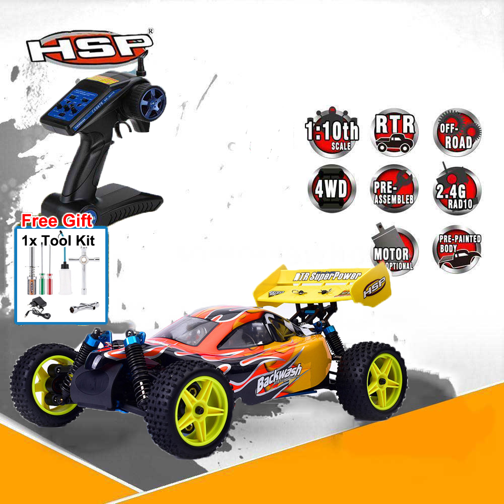 HSP Rc Car 1/10 Nitro Gas 4wd Power Backwash Two Speed Off Road Buggy 94166 T High Speed Remote Control Car Kid Toys +Tools kit hsp rc model car spare part 02023 clutch bell double gears 16t 21t rc 1 10th 4wd truck buggy destrier backwash