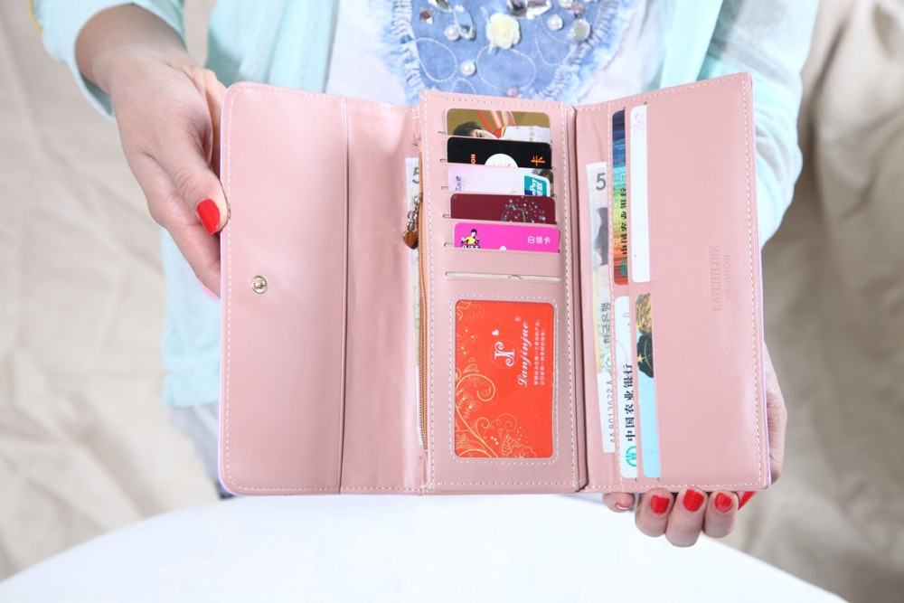 Candy colors wallets with imperial crown Fashion Long Wallet Handbags Ladies Leather Bag Popular Purse Card Holder Free Shipping 2