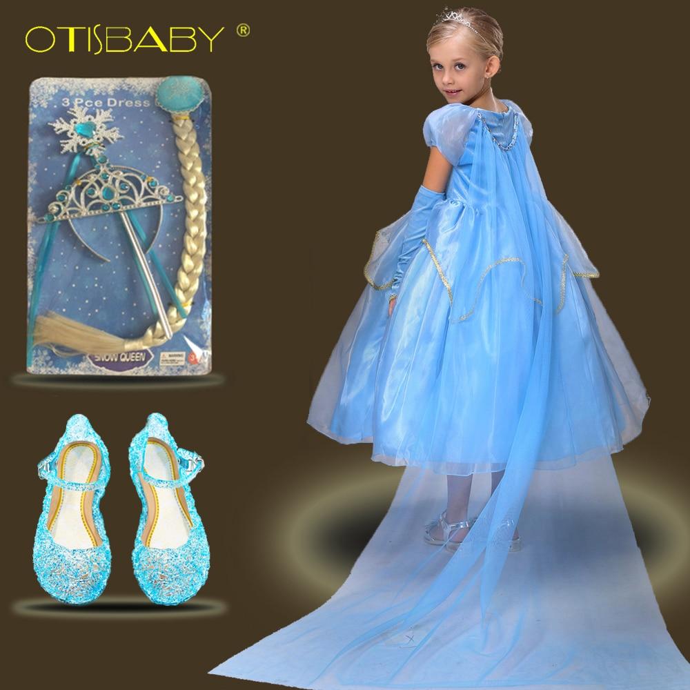 OTISBABY Phantasie Kinder Elegante Kleider Elsa Königin Prinzessin ...