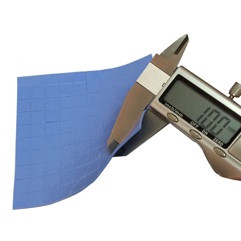 100 Pcs Blue 10mm*10mm*1mm GPU CPU Heatsink Cooling Conductive Silicone Pad Thermal Pad 4