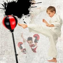 Боксерский набор расслабленный боксерский стоящий Пробивной мешок детям для фитнеса удар Грушевый шар скоростной мешок с боксерскими перчатками и насосом