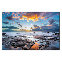 1 pieces framed Wall Art Picture Gift Home Decoration Canvas Print painting beautiful sea Sunset wholesale/Abstract-125