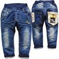 3726 мягкие джинсы детские повседневные брюки мальчиков джинсы девушка весна осень джинсовые дети джинсы новый не выцветают