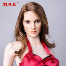 In Stock KIMI TOYS KT008 1/6 Scale Girl Head Sculpt HeadPlay Long Curly Hair For 12