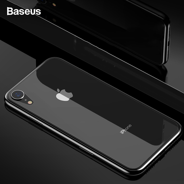 Baseus iPhone XR 0.3mm Back Transparent Tempered Glass Screen Protector