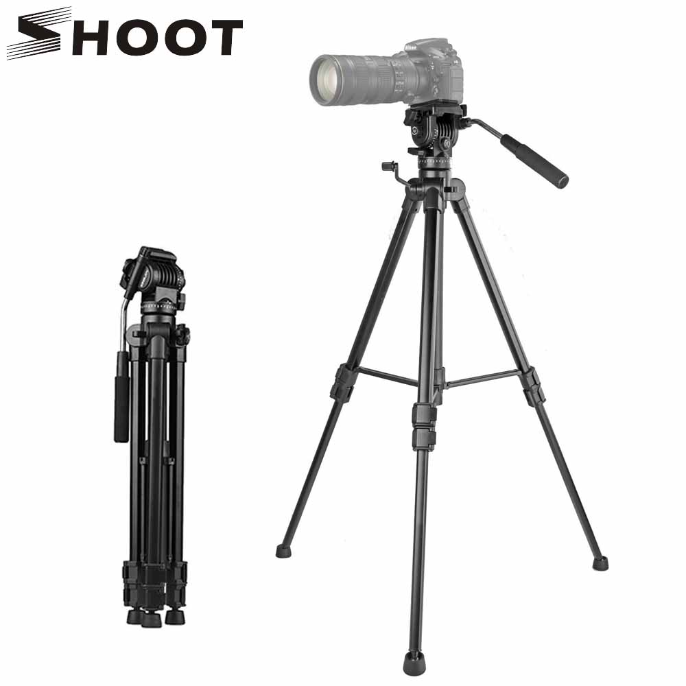 все цены на SHOOT Aluminum Alloy Flexible Camera Tripod Stand Portable Travel Tripod for Canoon Nikon Projector Smartphone DSLR Camcorder онлайн