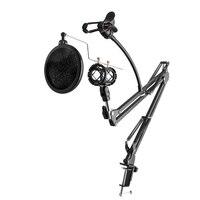 Microphone chuyên nghiệp Arm Đứng Ổn Định + Giữ Mobilephone với Bảng Gắn Kẹp cho Phát Thanh Truyền Hình Studio Recording