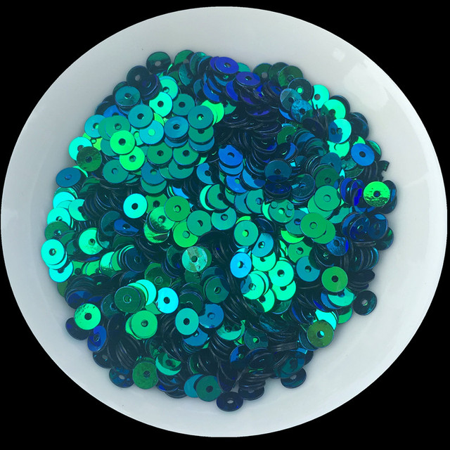 4000pcs(20g) Black with Blue Light 4mm Flat round loose sequins Paillette  sewing Wedding craft 852bf21f2b59