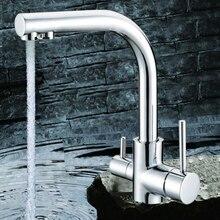 Смеситель для кухни ванной кран новый Chrome Кухня Раковина краном смесителя с очищенной воды на выходе