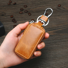 New luxury Leather Car Key Wallets Men Key Holder Housekeeper Keys Organizer Women Keychain Cover Zipper Case Bag Pouch Purse цены онлайн