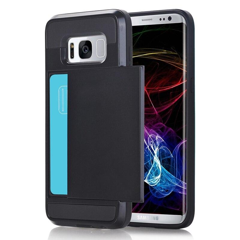 Ikasfeu tpu + pc phone case para samsung galaxy s8 teléfono cubierta con Ranura