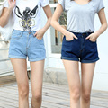 2016 Novas Mulheres Da Moda de Cintura Alta Shorts Jeans Feminino Jeans Curto para As Mulheres Senhoras Quentes Shorts C608