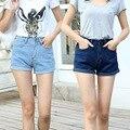 2016 Nuevas Mujeres de Cintura Alta Pantalones Cortos de Mezclilla Pantalones Cortos Femeninos Pantalones Vaqueros Cortos para Mujeres de Las Señoras Calientes C608