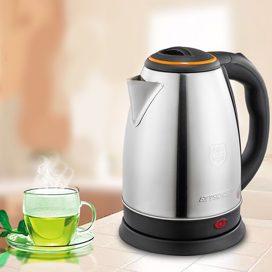 Electric Water Kettle Stainless Steel Instant Heating Boiling Pot Auto-off Teapot Coffee Pot Zipper Household Kettles Appliance
