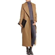 casaco feminino 2020 UK Women Plus size Autumn Winter Cassic Simple Wool Maxi Long Coat Female Robe Outerwear manteau femme cheap KALEIRDA Polyester Turn-down Collar Double Breasted REGULAR Full Slim Wool Blends Adjustable Waist 30-50 Wool 50-70 poyester