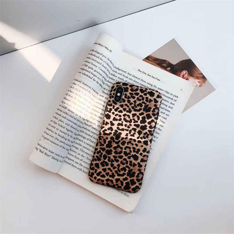Crispyfis сексуальный леопардовый Прайн ТПУ силиконовый чехол для iPhone 6 6s 7 8 Plus матовый мягкий модный чехол для X XR XS MAX