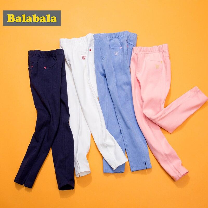 Balabala meninas leggings algodão elástico enfant calças menina criança clássico leggings para menina lápis calças crianças bottoms