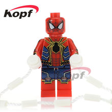 Singel Vendita Super Heroes Iron Spider-Man Spiderman Accappatoi Deadpool Clown Building Blocks Giocattoli Di Natale per i bambini PG350(China)