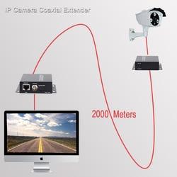 2 كجم موسع إيثرنت عبر IP محوري شبكة موسع 1080p محول الفيديو جهاز ريسيفر استقبال وإرسال دعم HIKVISION داهوا