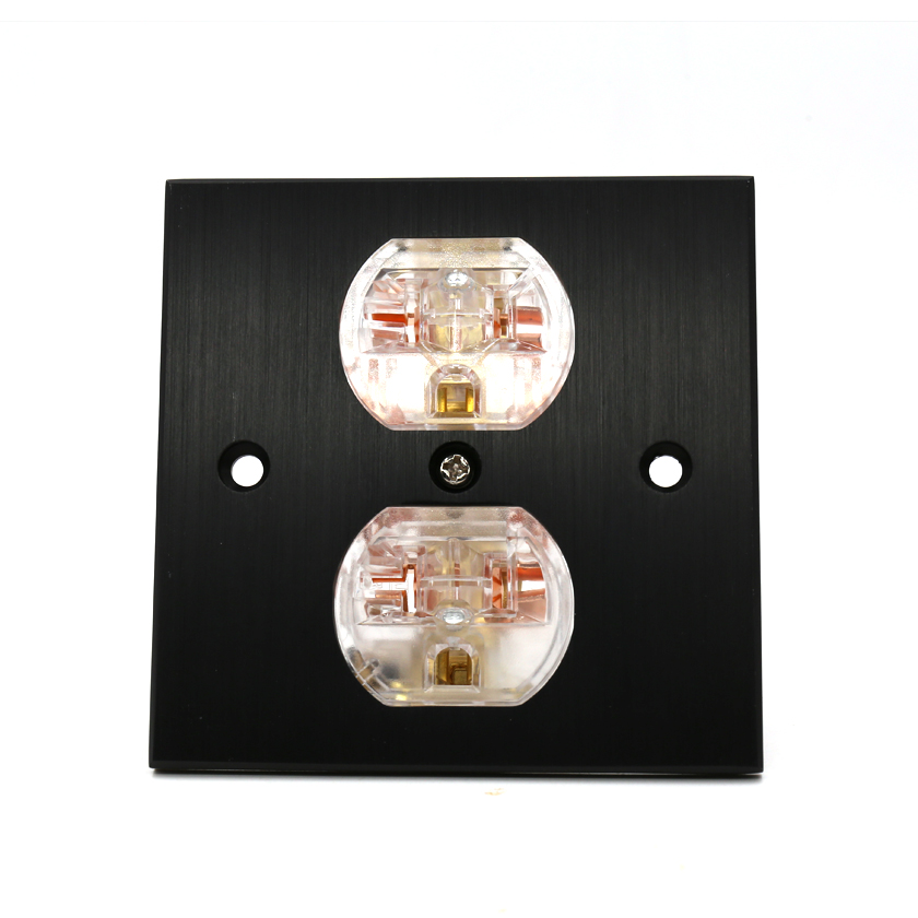 HI End Copper US AC Power Duplex Receptacle Outlet Socket Distributor HiFi