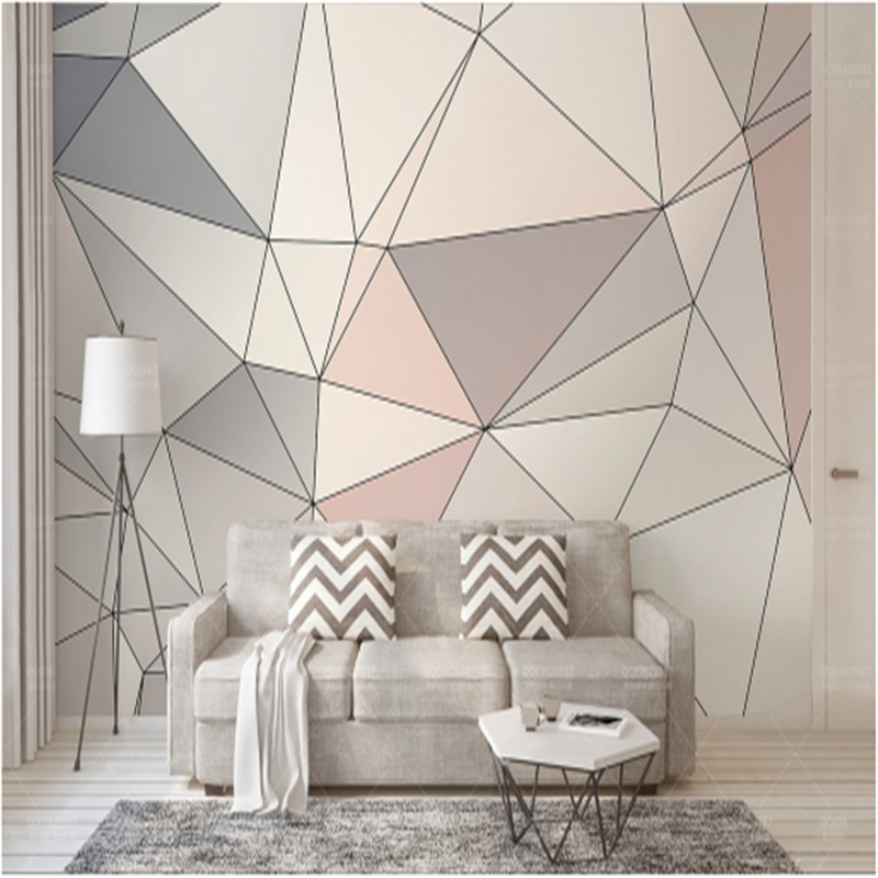 European 3d Murals Custom Geometry Triangle Stitching Modern 3d Wallpaper for Living Room Environment Friendly Bedroom Kitchen european church square ceiling frescoes murals living room bedroom study paper 3d wallpaper